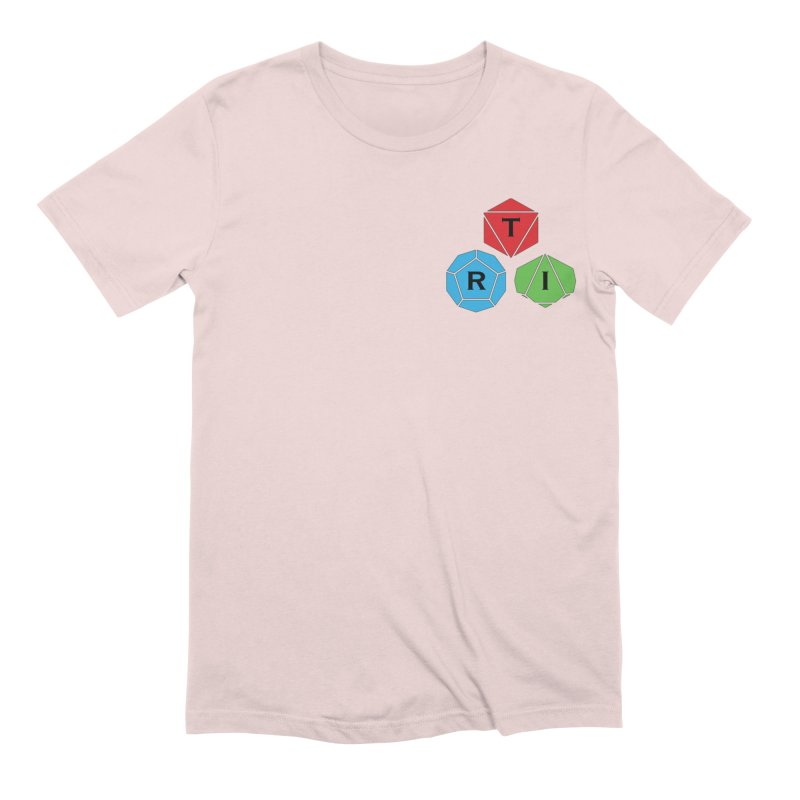 TRI color logo, upper right Men's Extra Soft T-Shirt by The Role Initiative's Artist Shop