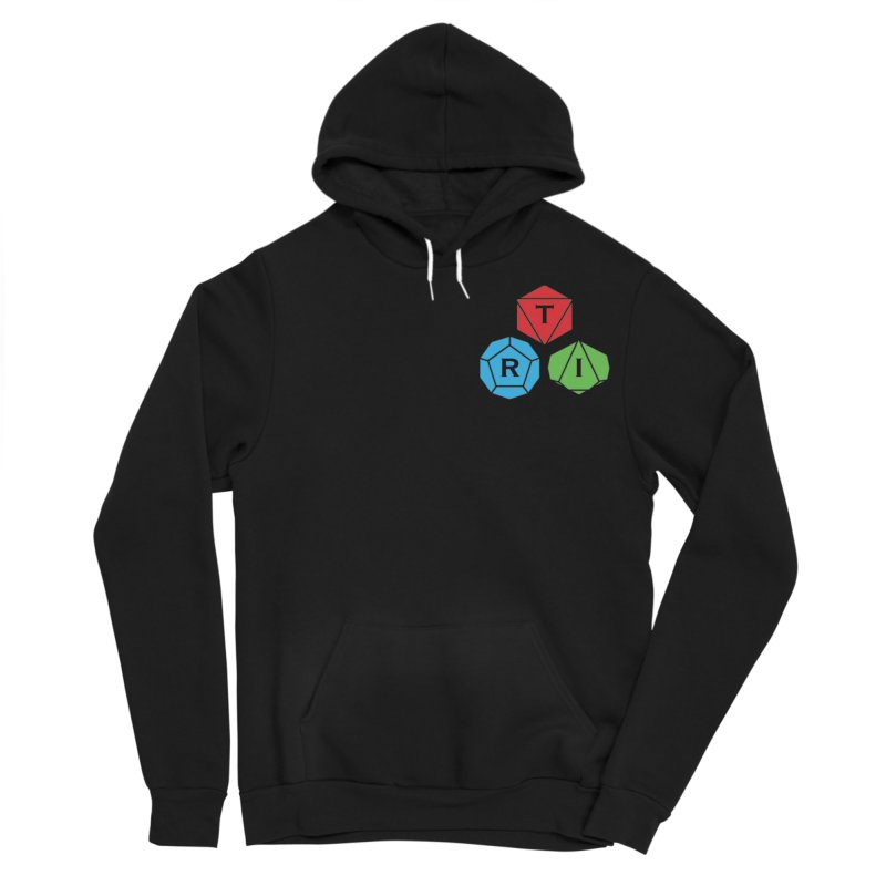 TRI color logo, upper right Men's Sponge Fleece Pullover Hoody by The Role Initiative's Artist Shop