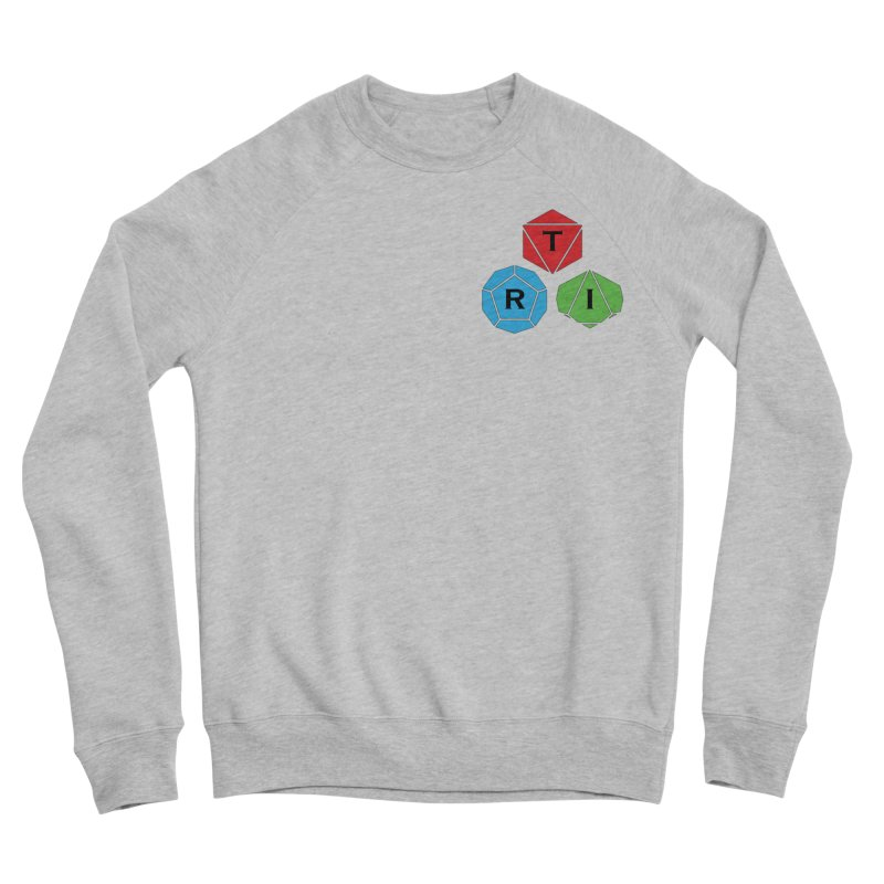 TRI color logo, upper right Women's Sponge Fleece Sweatshirt by The Role Initiative's Artist Shop