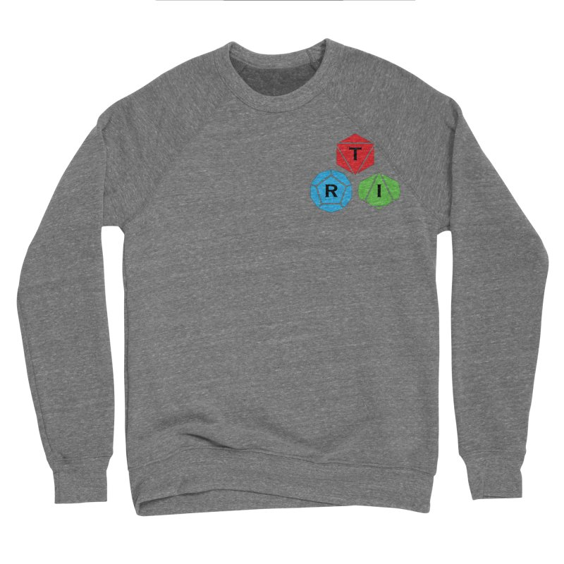 TRI color logo, upper right Men's Sponge Fleece Sweatshirt by The Role Initiative's Artist Shop