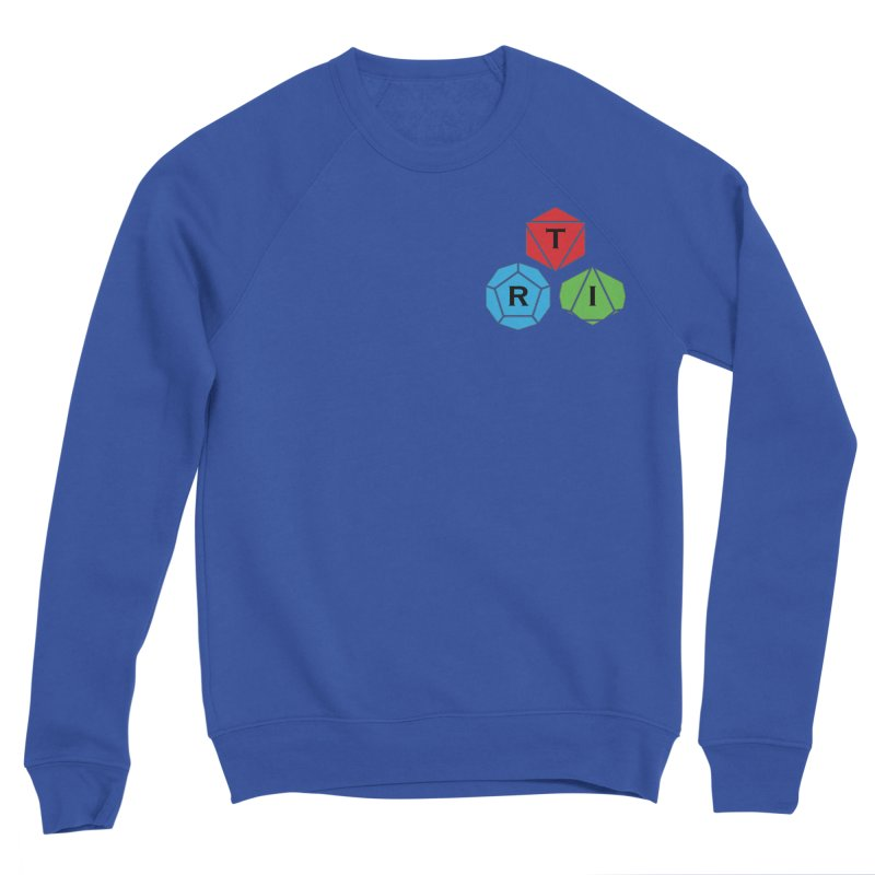TRI color logo, upper right Men's Sponge Fleece Sweatshirt by The Role Initiative's Artist Shop