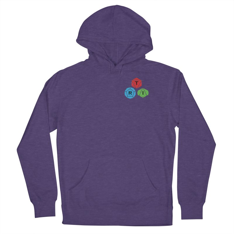 TRI color logo, upper right Women's Pullover Hoody by The Role Initiative's Artist Shop