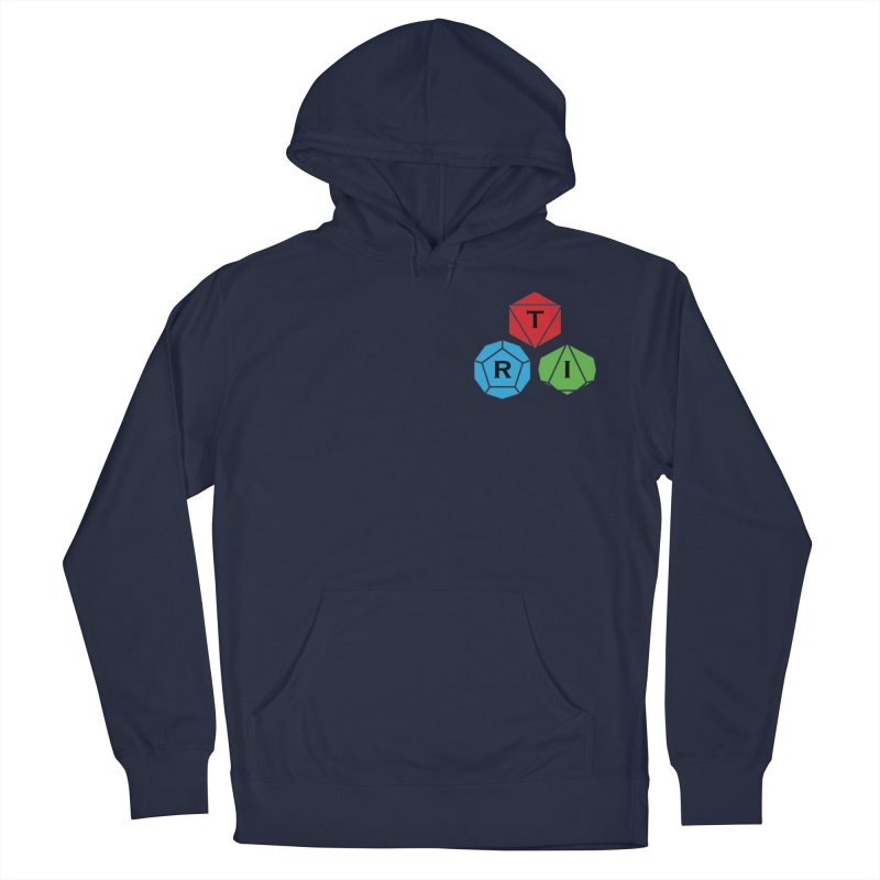 TRI color logo, upper right Women's French Terry Pullover Hoody by The Role Initiative's Artist Shop