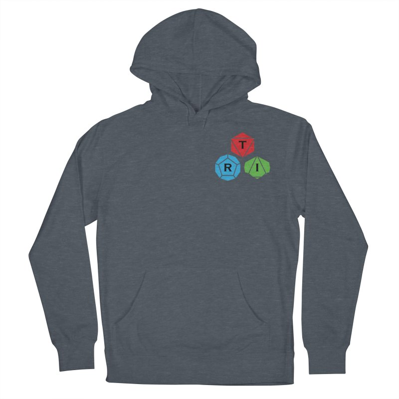 TRI color logo, upper right Men's French Terry Pullover Hoody by The Role Initiative's Artist Shop