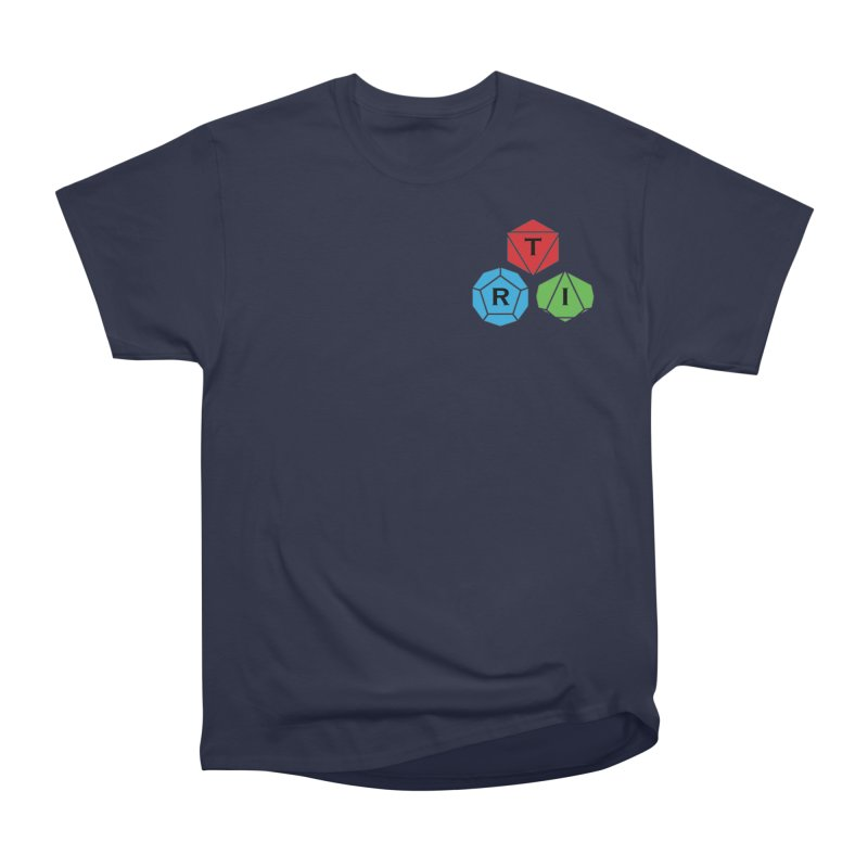 TRI color logo, upper right Men's Heavyweight T-Shirt by The Role Initiative's Artist Shop