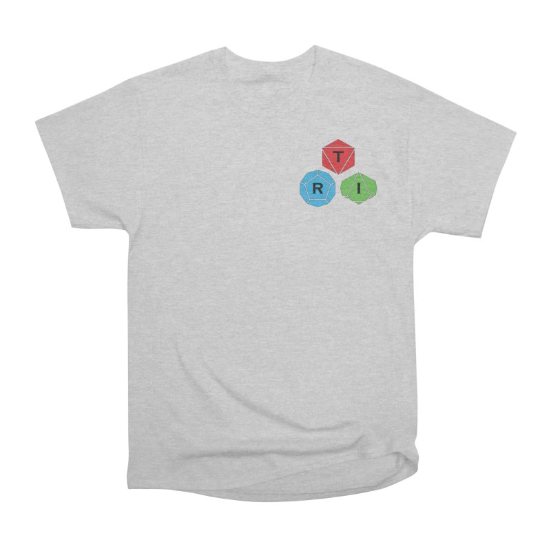TRI color logo, upper right Women's Heavyweight Unisex T-Shirt by The Role Initiative's Artist Shop