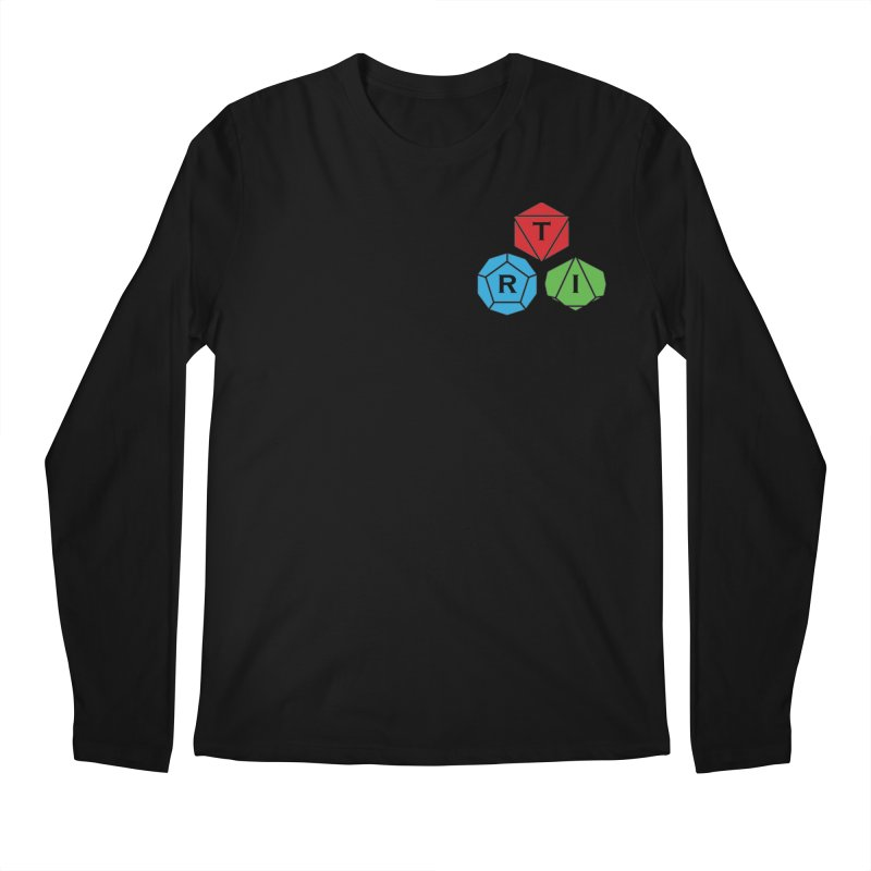 TRI color logo, upper right Men's Regular Longsleeve T-Shirt by The Role Initiative's Artist Shop