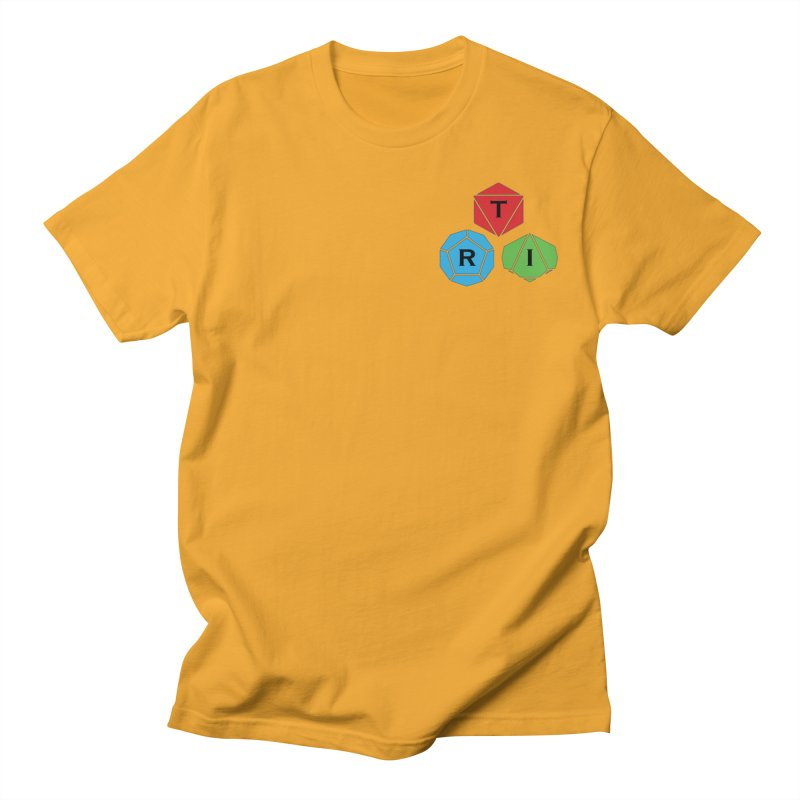 TRI color logo, upper right Women's Regular Unisex T-Shirt by The Role Initiative's Artist Shop
