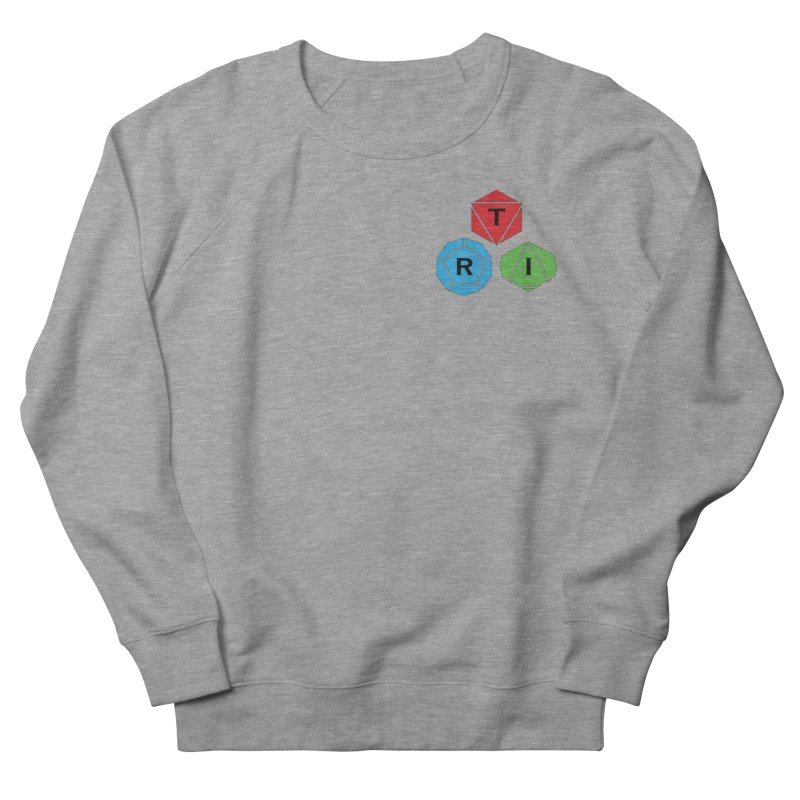 TRI color logo, upper right Women's French Terry Sweatshirt by The Role Initiative's Artist Shop