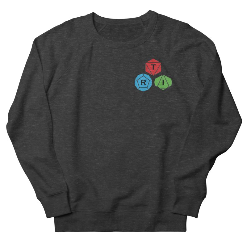 TRI color logo, upper right Men's French Terry Sweatshirt by The Role Initiative's Artist Shop