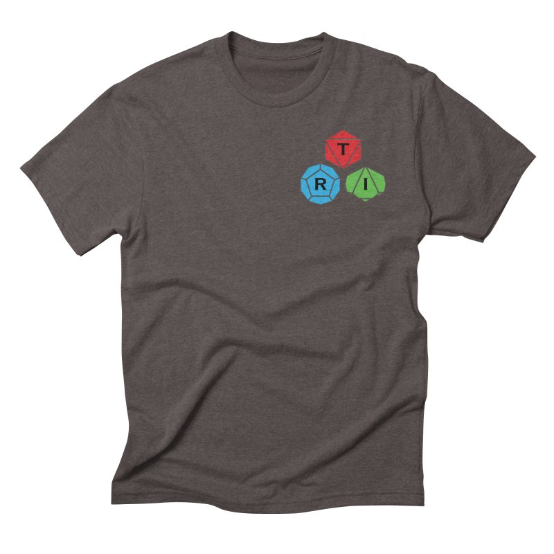 TRI color logo, upper right Men's Triblend T-Shirt by The Role Initiative's Artist Shop