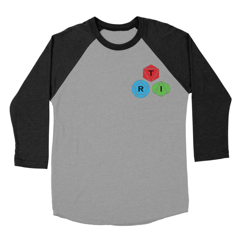 TRI color logo, upper right Women's Baseball Triblend Longsleeve T-Shirt by The Role Initiative's Artist Shop