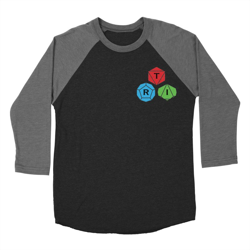 TRI color logo, upper right Men's Baseball Triblend Longsleeve T-Shirt by The Role Initiative's Artist Shop