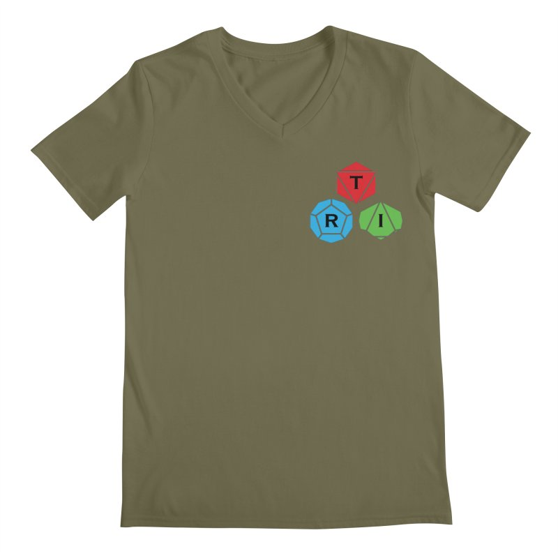 TRI color logo, upper right Men's Regular V-Neck by The Role Initiative's Artist Shop