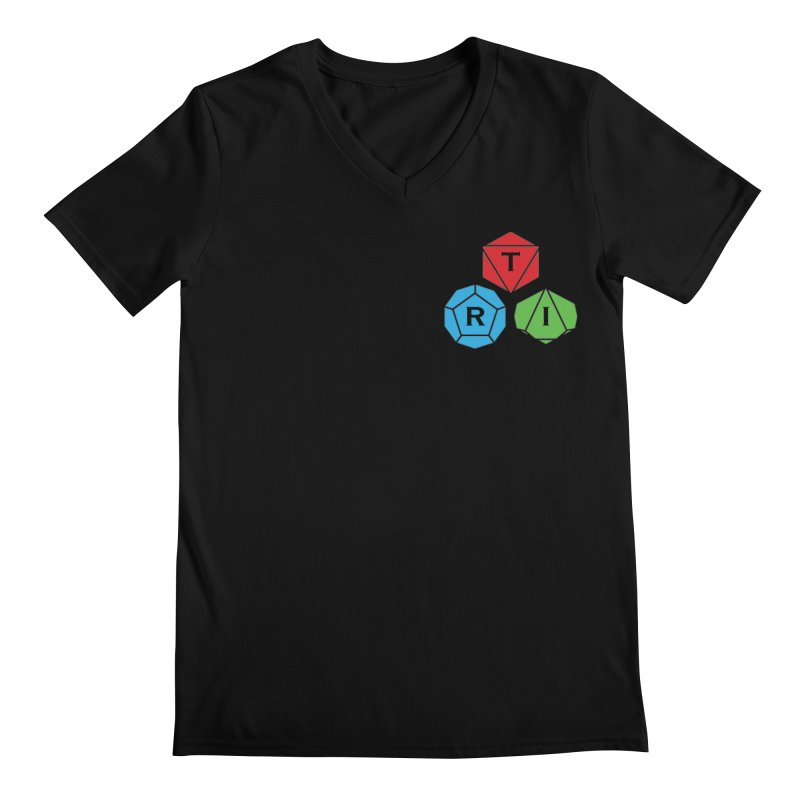TRI color logo, upper right Men's Regular V-Neck by The Role Initiative's Artist Shop