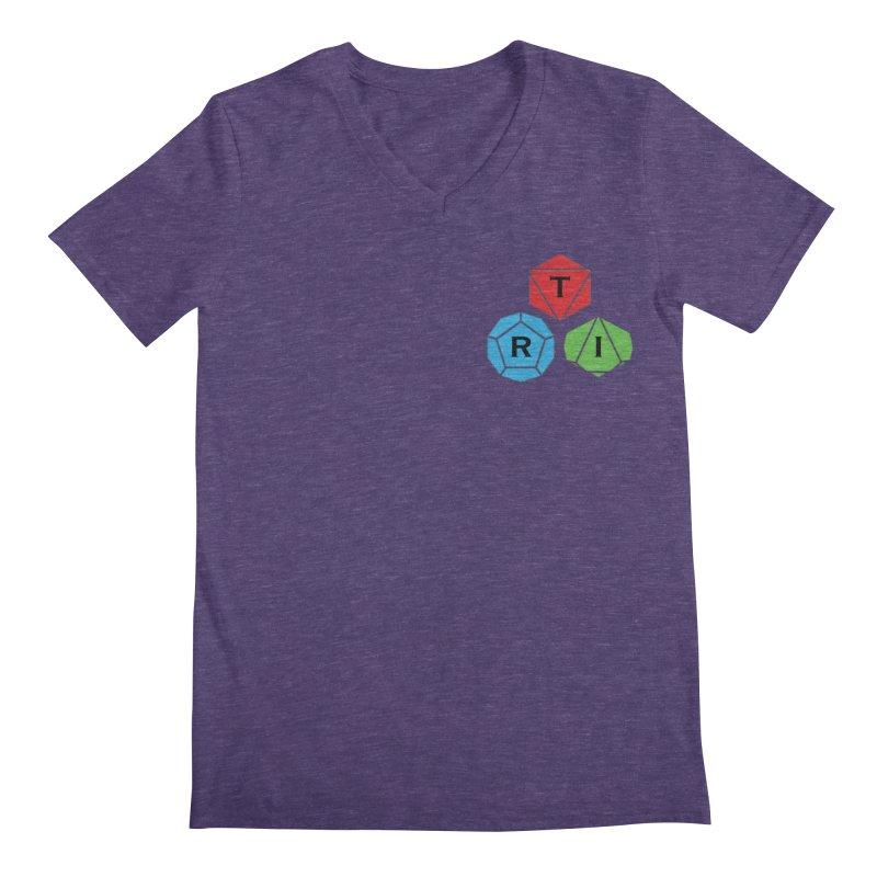 TRI color logo, upper right Men's V-Neck by The Role Initiative's Artist Shop