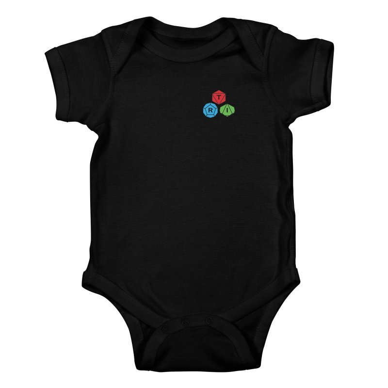 TRI color logo, upper right Kids Baby Bodysuit by The Role Initiative's Artist Shop