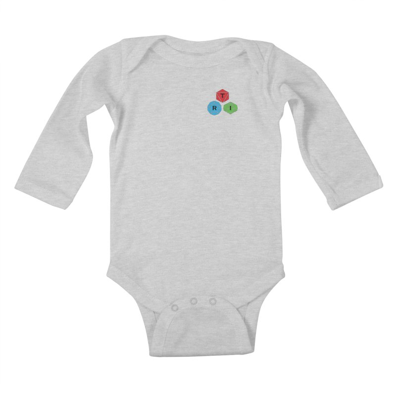 TRI color logo, upper right Kids Baby Longsleeve Bodysuit by The Role Initiative's Artist Shop