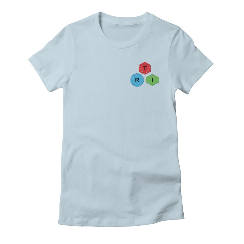 TRI color logo, upper right Women's T-Shirt by The Role Initiative's Artist Shop