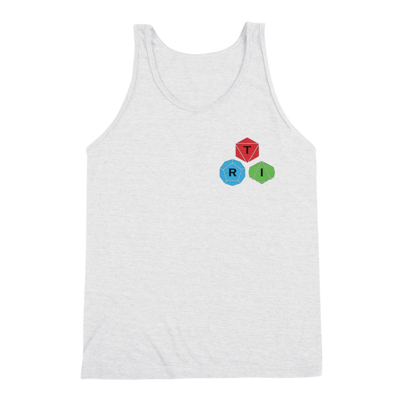 TRI color logo, upper right Men's Triblend Tank by The Role Initiative's Artist Shop