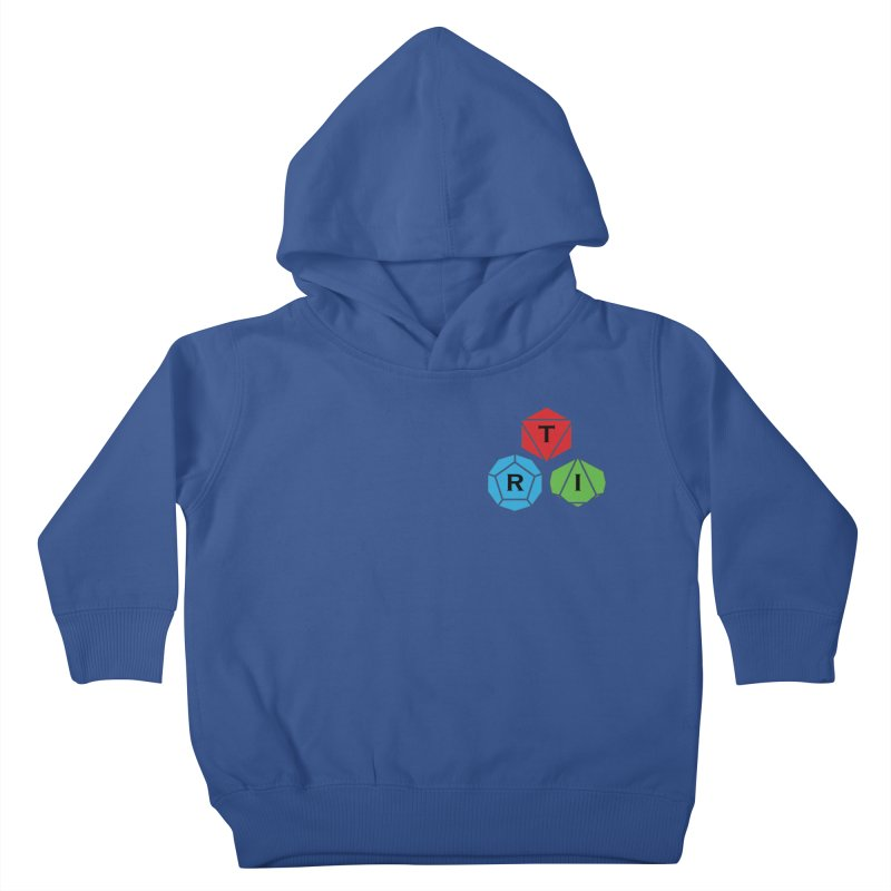 TRI color logo, upper right Kids Toddler Pullover Hoody by The Role Initiative's Artist Shop