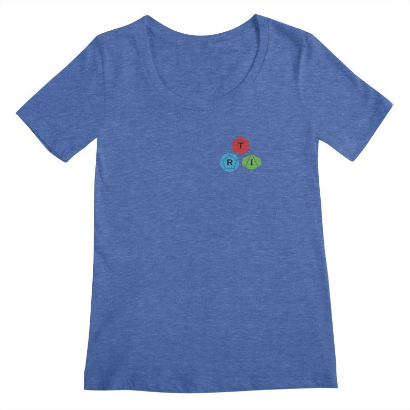 TRI color logo, upper right Women's Regular Scoop Neck by The Role Initiative's Artist Shop