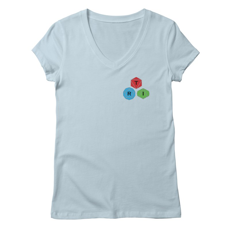 TRI color logo, upper right Women's Regular V-Neck by The Role Initiative's Artist Shop