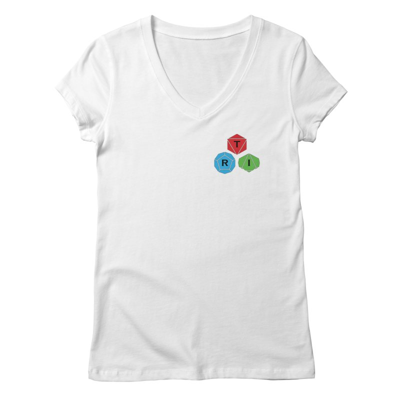 TRI color logo, upper right Women's V-Neck by The Role Initiative's Artist Shop