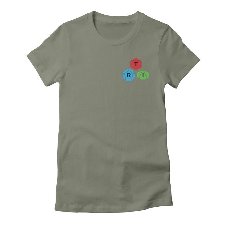 TRI color logo, upper right Women's Fitted T-Shirt by The Role Initiative's Artist Shop