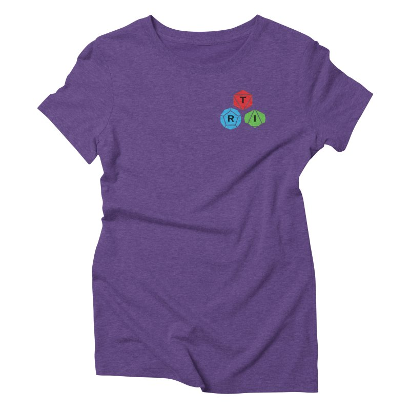 TRI color logo, upper right Women's Triblend T-Shirt by The Role Initiative's Artist Shop