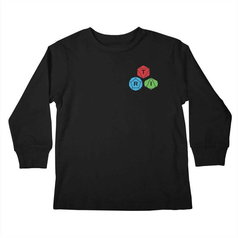 TRI color logo, upper right Kids Longsleeve T-Shirt by The Role Initiative's Artist Shop