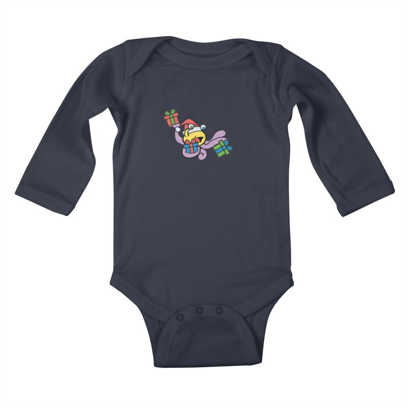 Christmas Flumph Kids Baby Longsleeve Bodysuit by The Role Initiative's Artist Shop