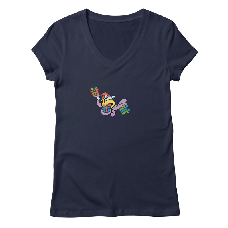 Christmas Flumph Women's Regular V-Neck by The Role Initiative's Artist Shop