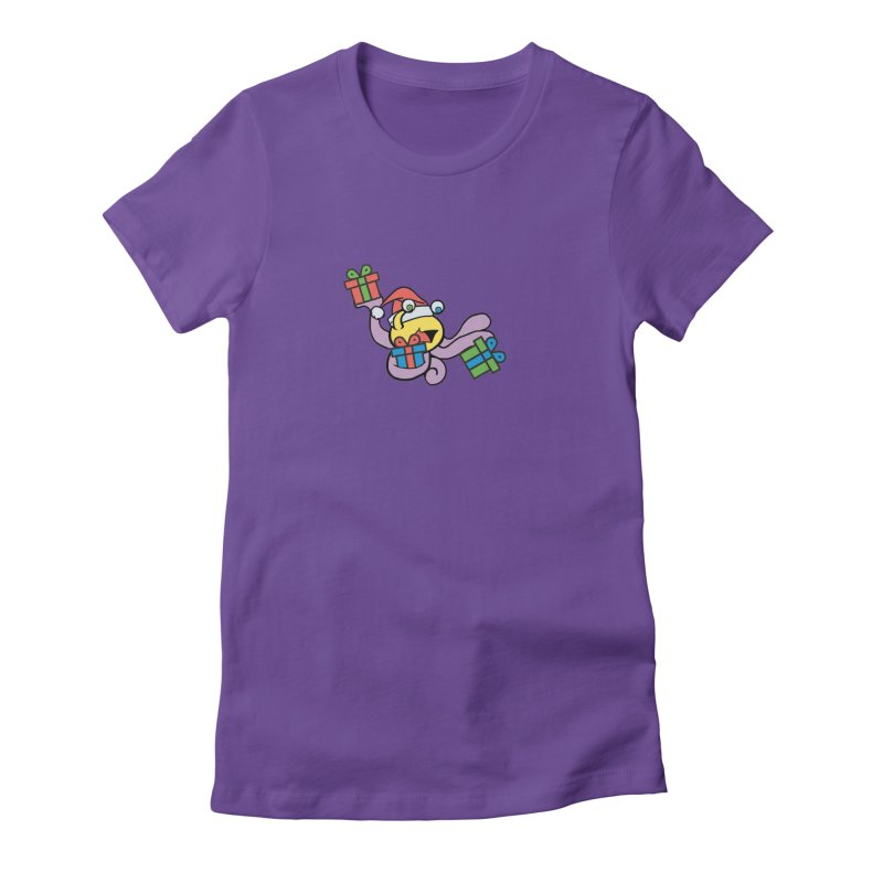 Christmas Flumph Women's Fitted T-Shirt by The Role Initiative's Artist Shop