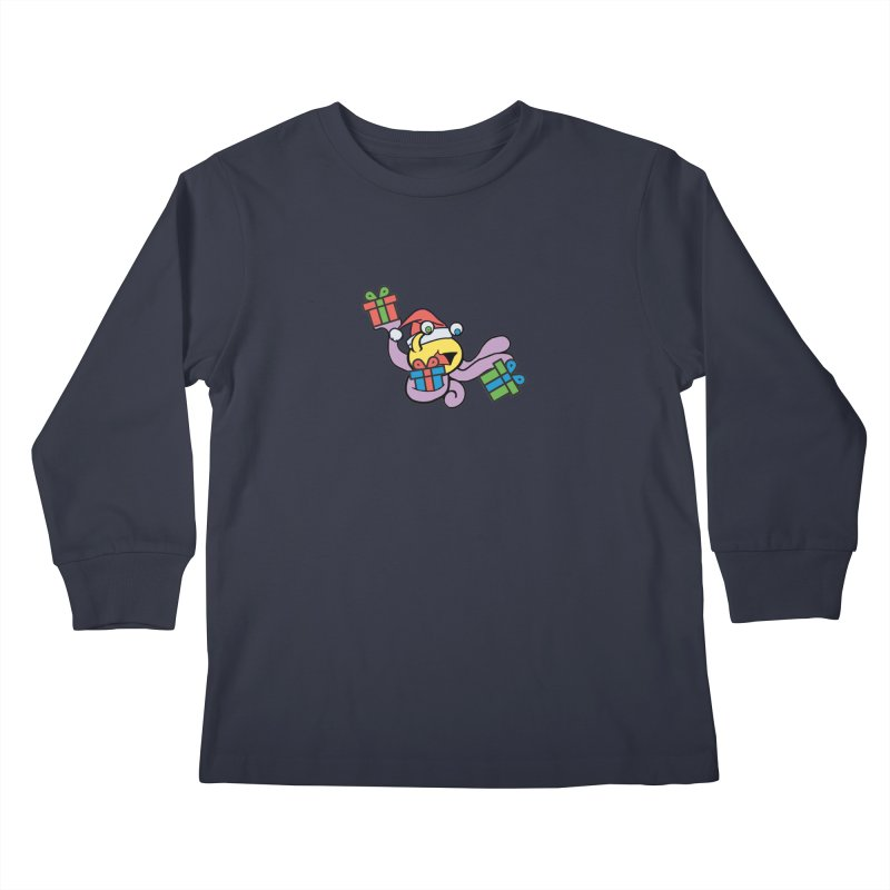 Christmas Flumph Kids Longsleeve T-Shirt by The Role Initiative's Artist Shop