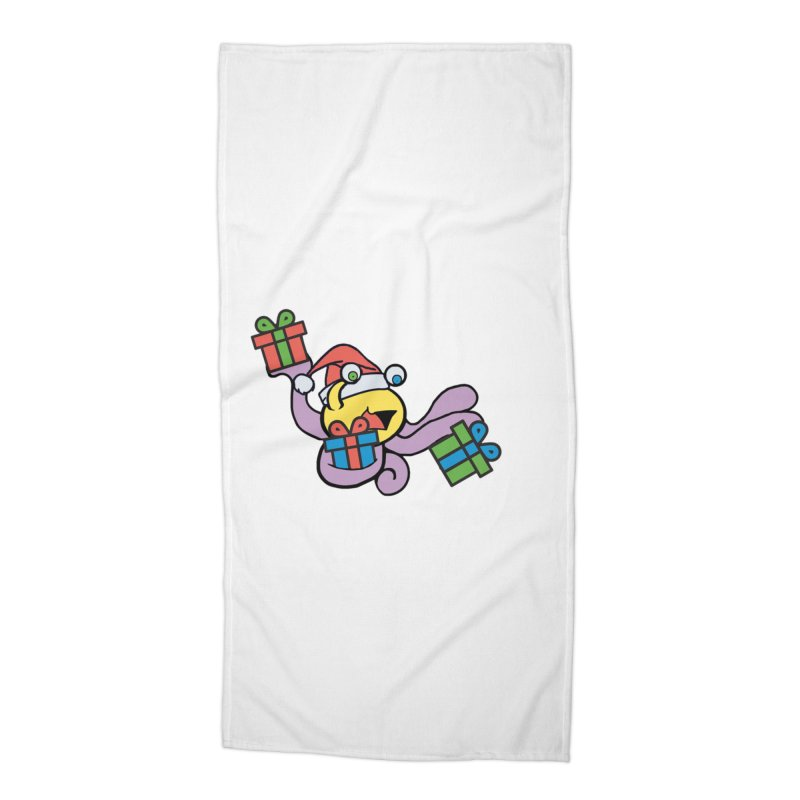 Christmas Flumph Accessories Beach Towel by The Role Initiative's Artist Shop