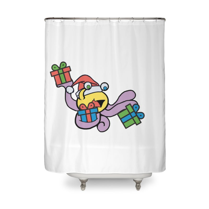 Christmas Flumph Home Shower Curtain by The Role Initiative's Artist Shop