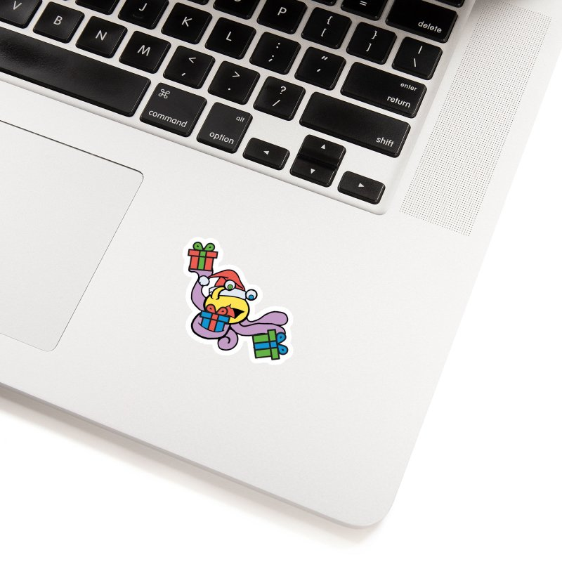 Christmas Flumph Accessories Sticker by The Role Initiative's Artist Shop