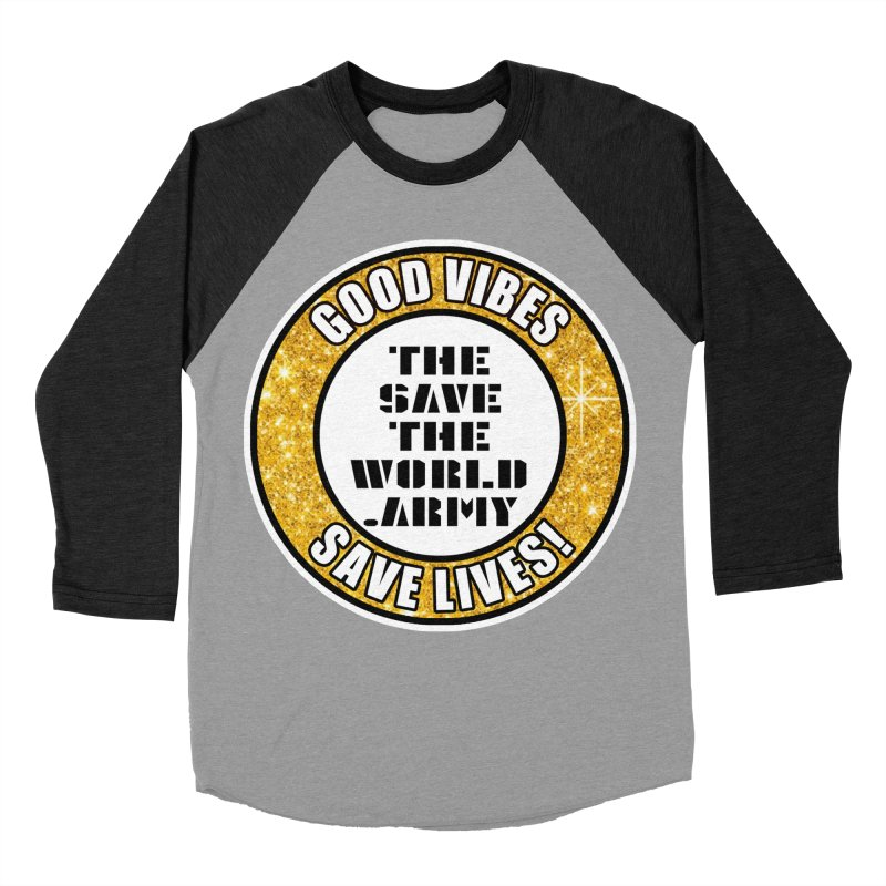 GOOD VIBES SAVE LIVES! Men's Baseball Triblend Longsleeve T-Shirt by THE SAVE THE WORLD ARMY!