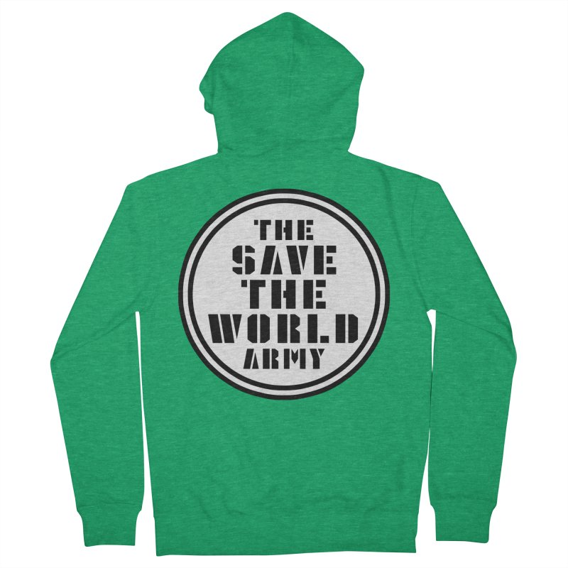 THE SAVE THE WORLD ARMY! Men's Zip-Up Hoody by THE SAVE THE WORLD ARMY!