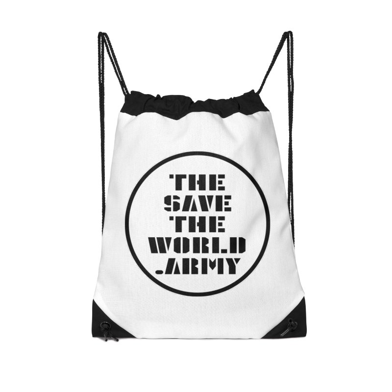 !THE SAVE THE WORLD ARMY! Accessories Drawstring Bag Bag by THE SAVE THE WORLD ARMY!