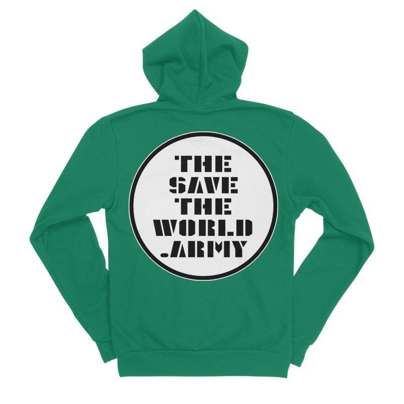 !THE SAVE THE WORLD ARMY! Men's Sponge Fleece Zip-Up Hoody by THE SAVE THE WORLD ARMY!