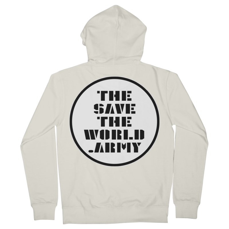 !THE SAVE THE WORLD ARMY! Men's French Terry Zip-Up Hoody by THE SAVE THE WORLD ARMY!