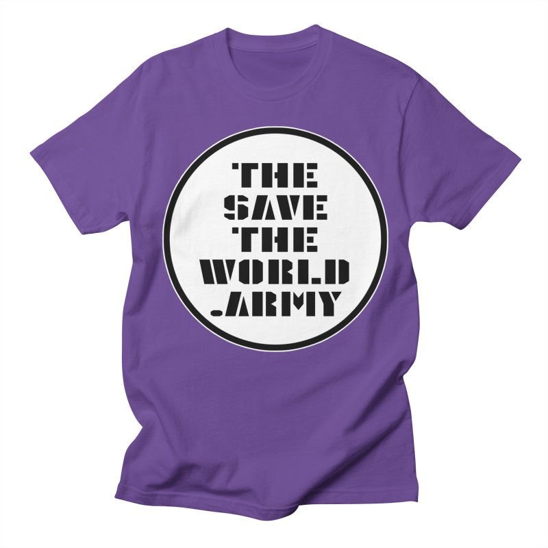 !THE SAVE THE WORLD ARMY! Men's Regular T-Shirt by THE SAVE THE WORLD ARMY!