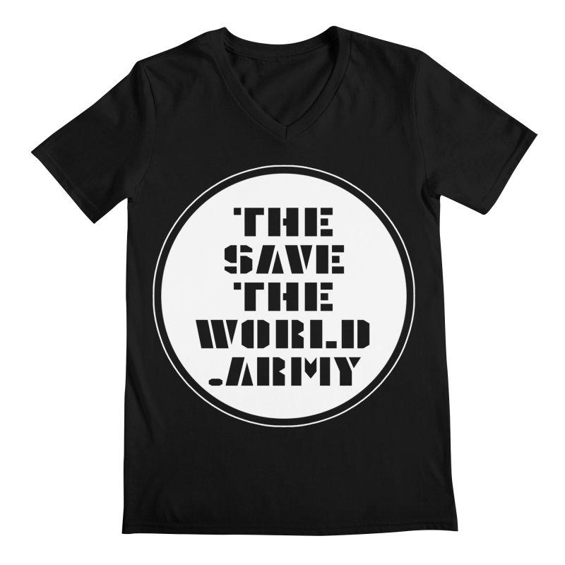 !THE SAVE THE WORLD ARMY! Men's Regular V-Neck by THE SAVE THE WORLD ARMY!