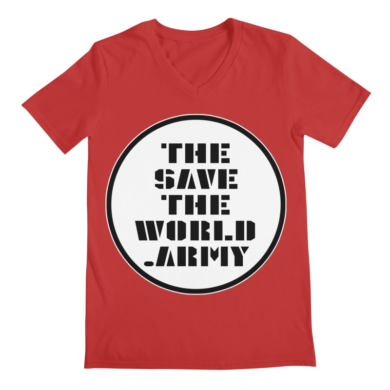 !THE SAVE THE WORLD ARMY! Men's Regular V-Neck by THE SAVE THE WORLD ARMY!