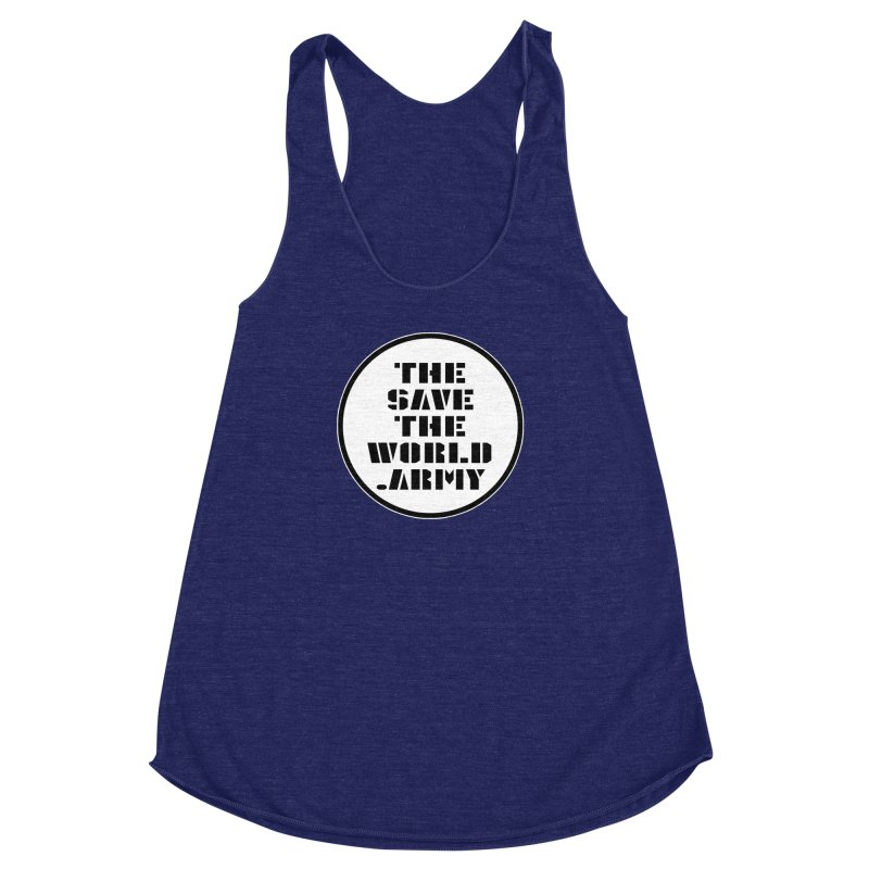 !THE SAVE THE WORLD ARMY! Women's Racerback Triblend Tank by THE SAVE THE WORLD ARMY!