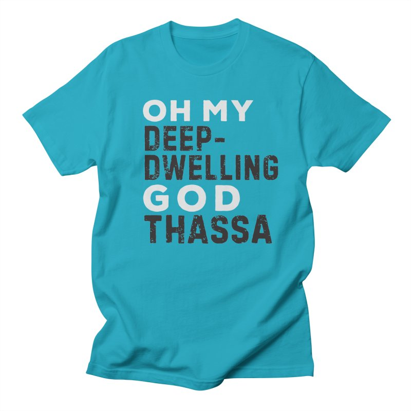 Oh My God: Thassa! Men's T-Shirt by The Schwaggering