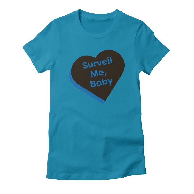 Surveil Me, Baby (Magic the Gathering Valentine - Dimir) Women's T-Shirt by The Schwaggering
