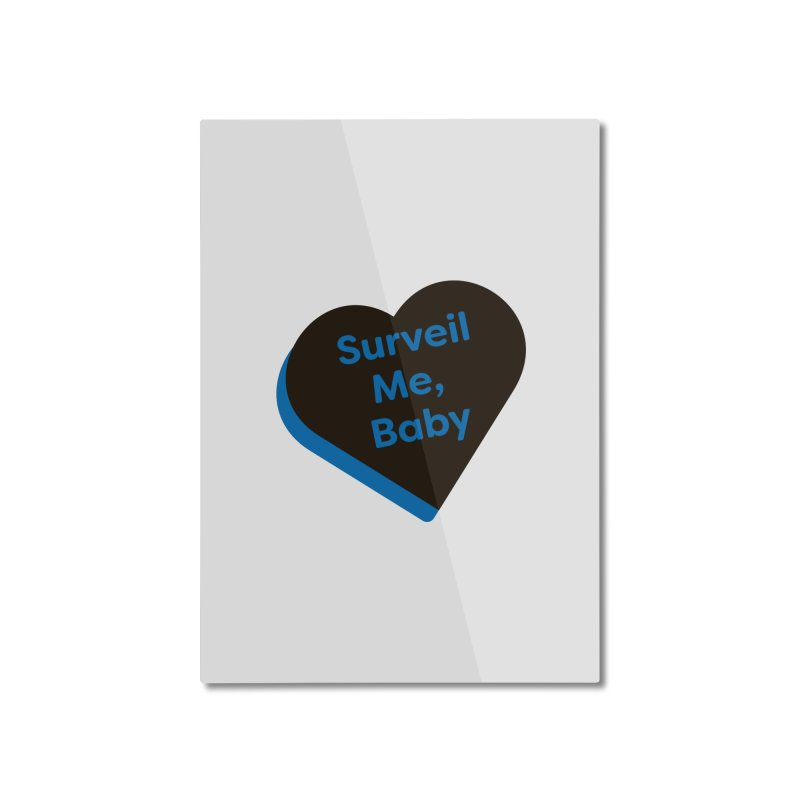 Surveil Me, Baby (Magic the Gathering Valentine - Dimir) Home Mounted Aluminum Print by The Schwaggering